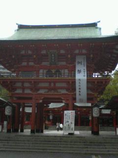生田神社にて